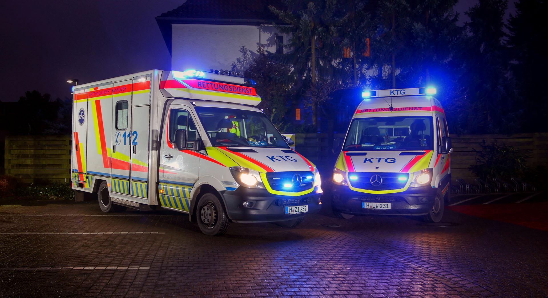 Rettungswagen der KTG